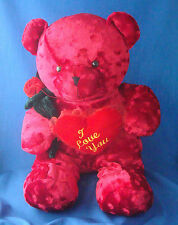 "23"" red super plush teddy bear Valentine's Day Best Made Toys Limited"