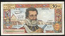 50 Nfrancs  HENRI IV ; émis le 2.7.1959 ; FAY#58/2.