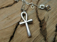 sterling silver cross pendant chain necklace