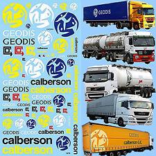 MAN MB Scania LKW Trucks Sponsoren Calberson New Geodis 1:87 Decal Abziehbilder