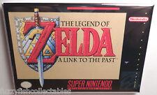 "Legend of Zelda Link to Past SNES Game Box 2"" x 3"" Fridge Locker MAGNET Nintendo"