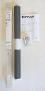 "2 NEW Ikea TUPPLUR Blackout Cordless Roller Blind Shade GRAY 21 3/4"" x 76 3/4"""