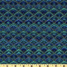Blue Geometric Craft Fabrics