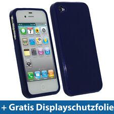 Blau Dunkelblau TPU Gel Tasche für Apple iPhone 4S 16GB 32GB 64GB Schutz Hülle