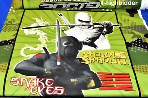 "44"" x 30' 2009 GI Joe Snake Eyes Storm Shadow - Rise of Cobra 100% Cotton Fabric"