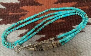 """Gorgeous multi-strands turquoise heishi necklace/23""""(y241L-w1)"""