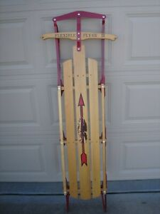 """Vintage BLAZON Flexible Flyer III F 960 -  60"""" Snow Sled USA Excellent Condition"""