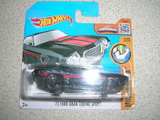 HOT WHEELS '72 FORD GRAN TORINO SPORT IN BLACK BNOC SHORT CARD
