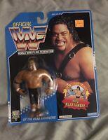 Vintage WWF Hasbro 1993/1994 Blue Card Fatu Of The Head Shrinkers Wrestling Moc