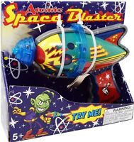 Regal Games Tin Atomic Space Blaster w/ Revving Gears and Cosmic Light Up Effect