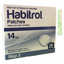 Habitrol Step 2, Transdermal Nicotine Patch 14mg,  1 box 28 patches