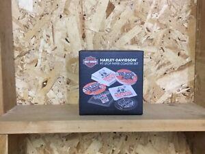 Harley Davidson Pit Stop paper coaster set