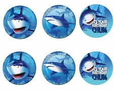 Shark Edible Party Image Cupcake Topper Frosting Icing Sheet Circles