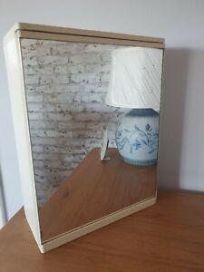 Original Vintage 1950s/60s Kitchen/bathroom Wall Unit. MCM Glass Front Shelves