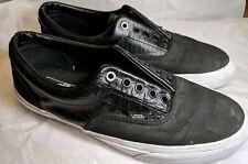 Vans Croc Canvas Leather Era Sneakers Skate Shoes Black 12