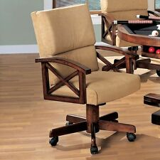 Coaster Furniture 100172 Marietta Beige Upholstered Arm Game Chair