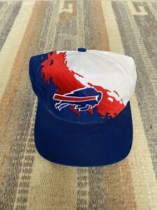 Vintage Vtg 90s ProLine Buffalo Bills Splash Hat Logo Athletics Snapback Cap