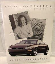1995 Buick Richard Tyler Riviera Press Kit Media Release Original Rare GM