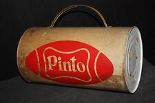PINTO football TIN BOX VINTAGE OLD store advertising sport ball trade sign tin