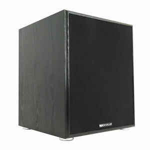 """Rockville Rock Shaker 12"""" Inch Black 800w Powered Home Theater Subwoofer Sub"""