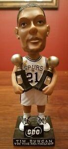 TIM DUNCAN Spurs Two Time NBA Finals MVP Bobble head