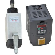 3KW AIR COOLED SPINDLE MOTOR AND 3KW FREQUENCY INVERTER VFD DRIVE SQUARE MOTOR