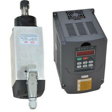 4KW AIR-COOLED MOTOR SPINDLE AND 4KW HUAN YANG VFD INVERTER DRIVE FOR CNC