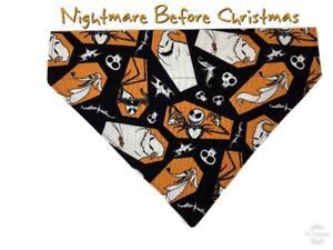 Nightmare Before Christmas Dog Bandana Over the Collar dog bandana Dog collar