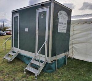 Male & Female towable Portable Toilet Block, Events Hire, Wedding Festival 2 Bay