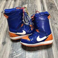 Nike Vapen Drenched Blue/Orange Blaze-White Knicks colorway Size 12 Snow Boots