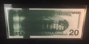 Flooded-Plate Ink-smear Error Note $20 1996 FRN Big Head Showing IR Strip Rare