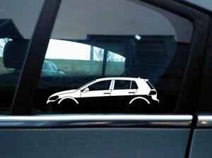 2x car silhouette stickers - for VW Golf Mk7 GTi (5-DOOR) Volkswagen S10