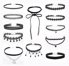 Fashion 12 Pieces /set  Choker Vintage Velvet Ladies Necklace Retro Jewellery
