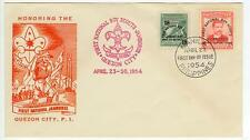 1954 Philippines Boy Scouts First National Jamboree First Day Cover