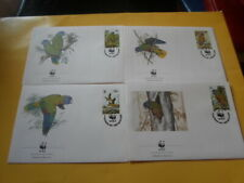 St.Lucia 1987 Wwf Bird Blaustirnamazone 4 FDC First Day Covers