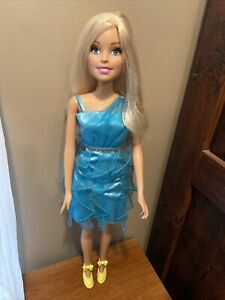 "Barbie Blonde Doll 2013 Just Play Mattel  My Size Best Friend Approx 28"" Tall"