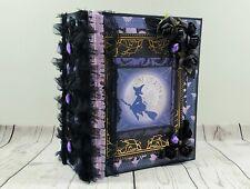 Halloween One Crafty Witch Scrapbook Mini Photo Album Memory Decor Keepsake