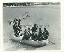 1943 Life Raft Tested in Potomac River Original News Service Photo