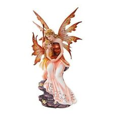 "Motherhood Fairy Faery with Child Daughter Statue Fantasy Figurine 8.75"" Tall"