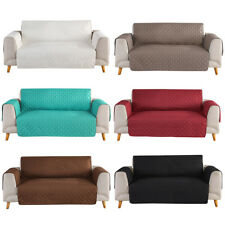 Microfiber Quilted Waterproof Sofa Cover Chair Couch Slipcover Pet Dog Kids Mat