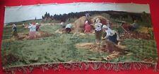 VTG Russian Culture  USSR carpet RUG village haymaking