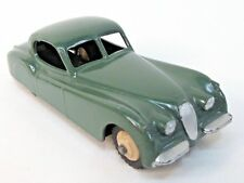 1950's Dinky #157 JAGUAR XK-120 dark green w/ cream hubs diecast NEAR MINT