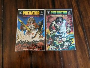 Predator The Bloody Sands of Time #1-2 Complete Set Dark Horse Comics