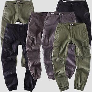 Jack & Jones - Big Seven - Cargo tapered fit Jogg Herren Jeans Stoff Hose neu