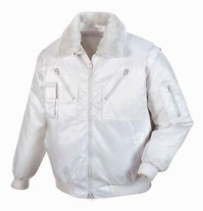"""Pilotjacke """"OSLO"""" Arbeitsjacke Berufskleidung Winterjacke Malerjacke Farbe Weiß"""