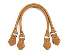 """18.8"""" byhands Yellow Orche Genuine Leather Purse Handles, Embossed (22-4701-E)"""