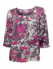 Viscose Boat Neck Classic Floral Tops & Shirts for Women