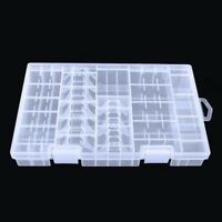 AAA/AA/C/D/9V Battery Transparent Storage Rack Battery Holder Hard Box Plastic