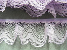 Gathered Lace Lilac 5 metres  (251/1)