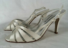 3d1bab772 Caparros Alec White Dyeable Silk Evening   Bridal Sandals Size 7 NEW  69
